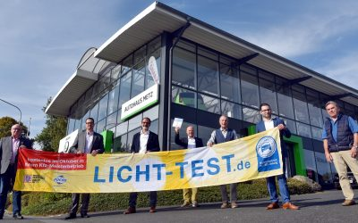 Lichttest-2020-Auftaktveranstaltung beim Autohaus Metz in Gusternhain